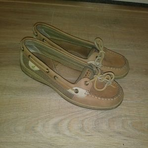 Sperry top sider tan shoes